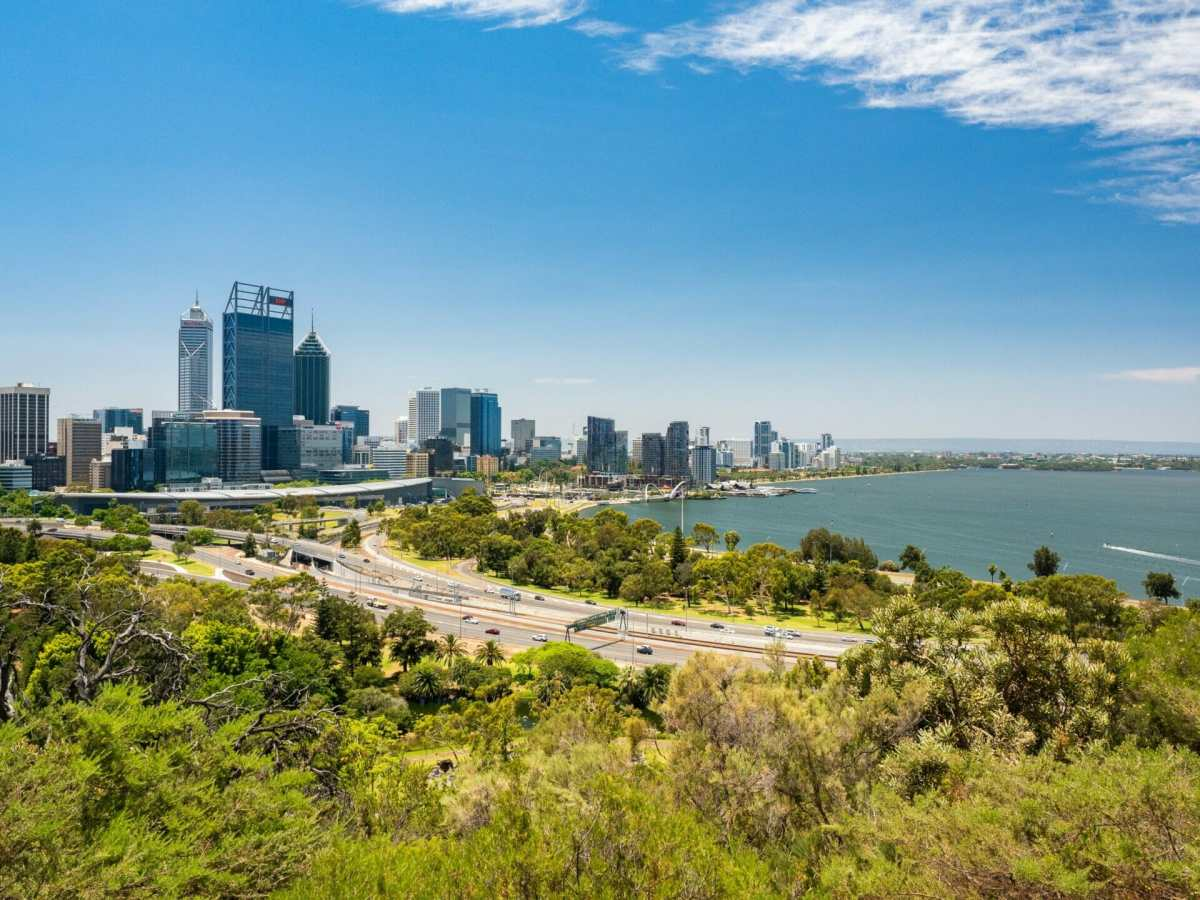 View from King's Park Perth Western Australia