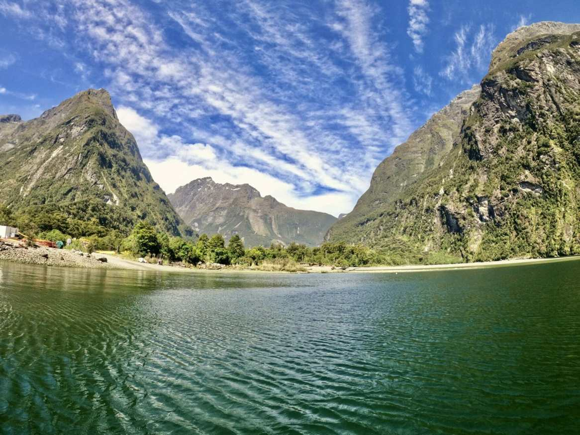 Setting off into Milford Sound
