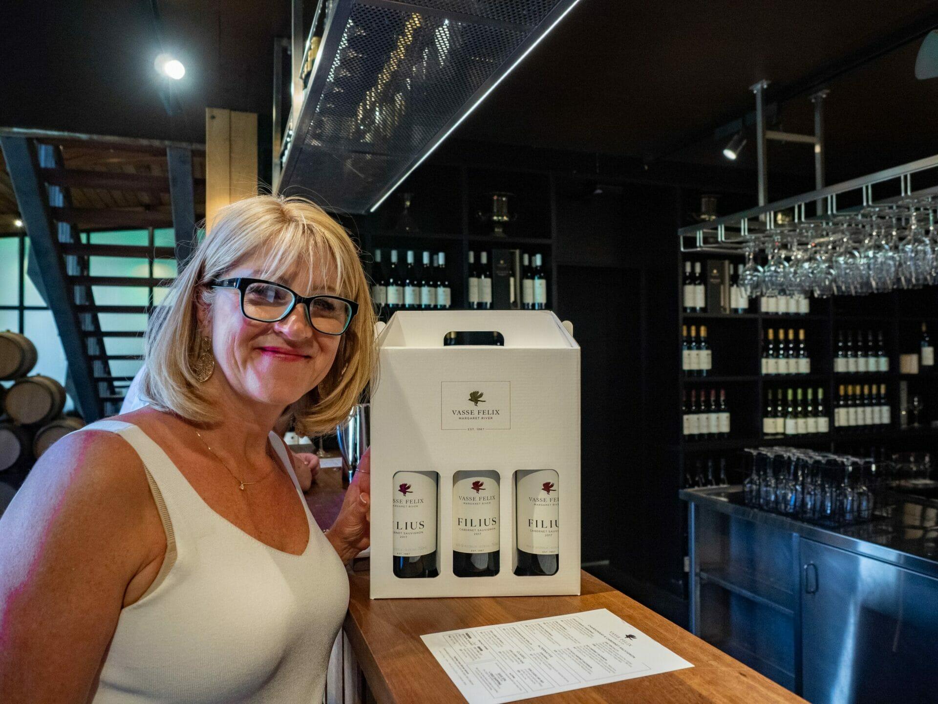 Woman buying wine Vasse Felix Margaret River