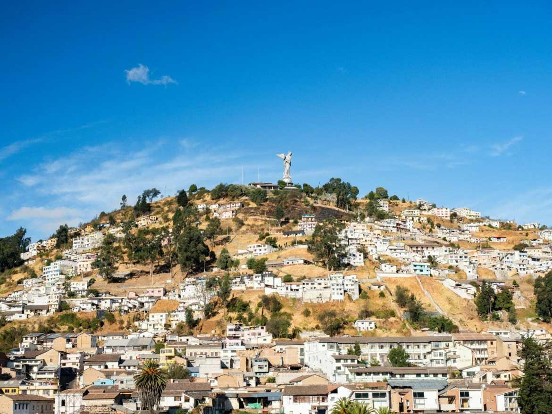 The Virgin of Quito statue on Panecillo Hill