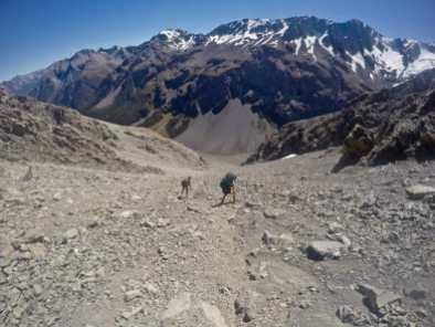 Descending to Crow Hut