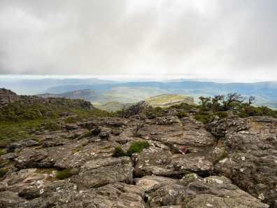 Descending from Mt Rosea