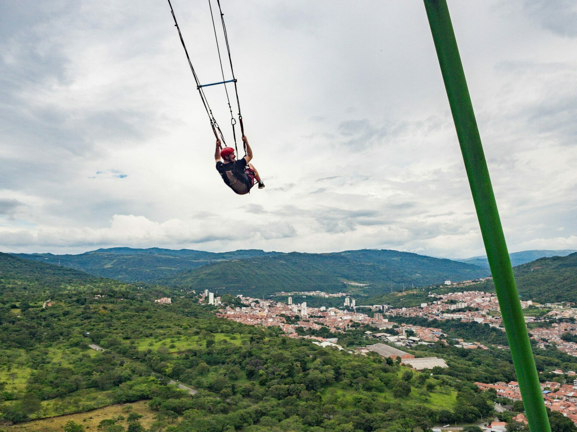 Giant swing over San Gil Colombia