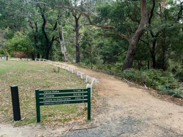Signs along the Grampians Peaks Trail