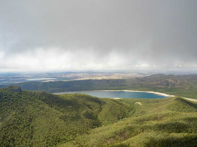 Cloudy view from Mt Rosea
