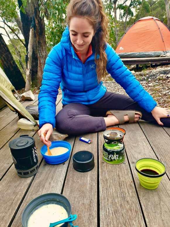 Cooking at Bugiga Hiker Camp