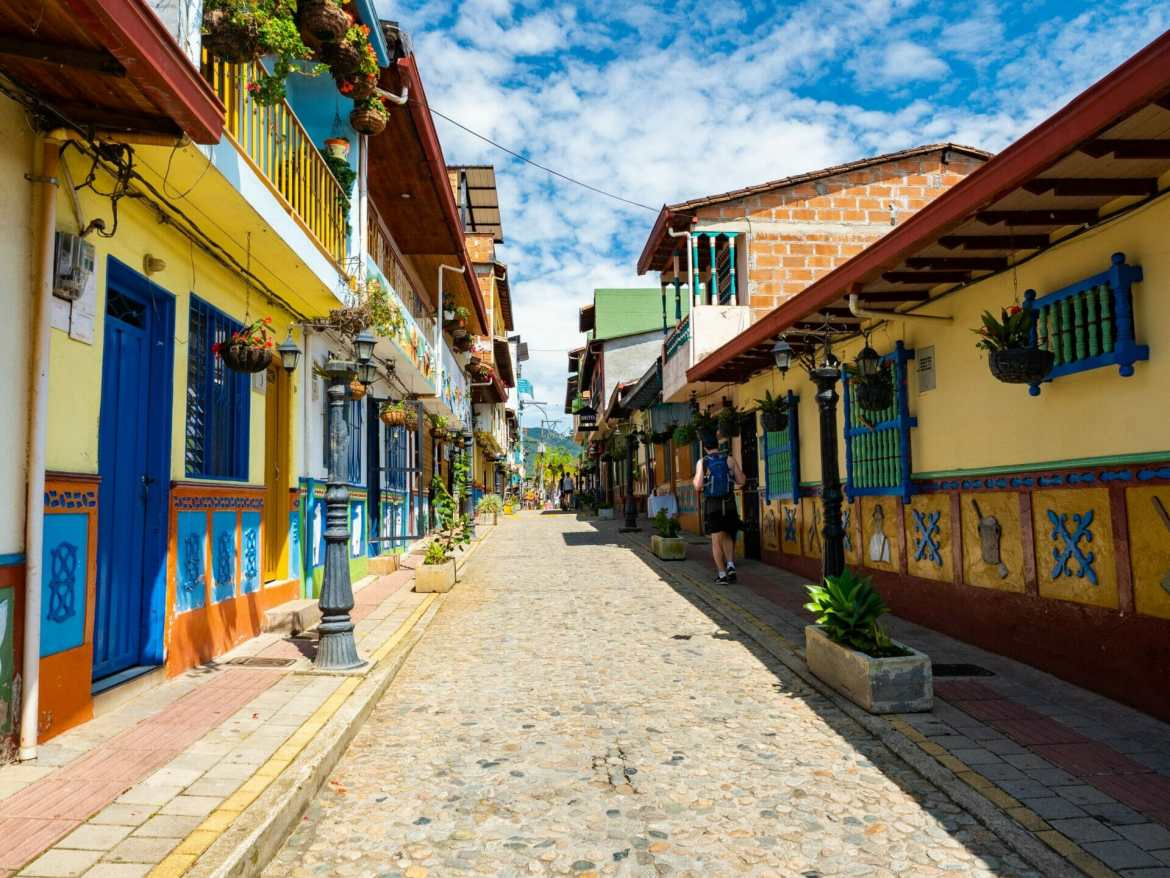 Colourful streets Guatapé Colombia
