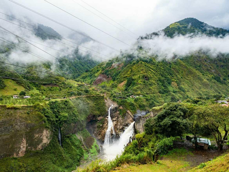 Cascada de Agoyán waterfall Baños