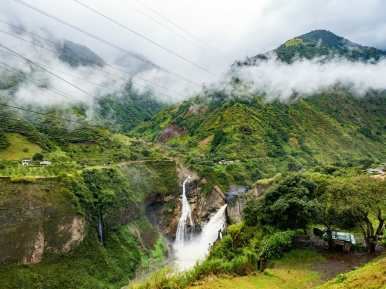 Cascada de Agoyán waterfall Baños Ecuador