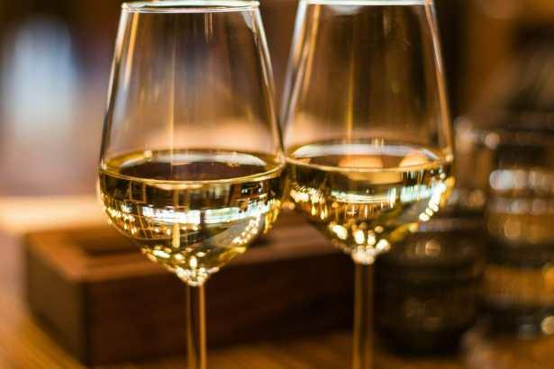 Glasses of chardonnay Perth Western Australia