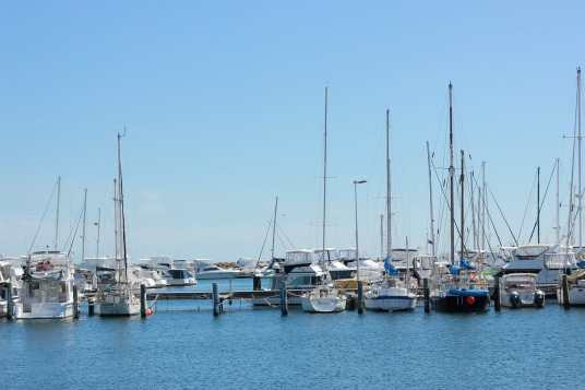 Boats on Swan River Perth