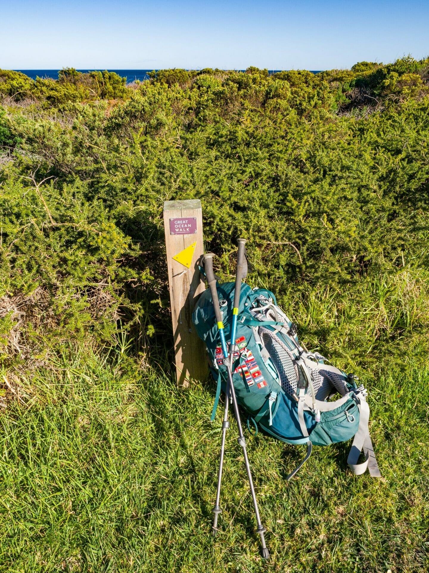 Great Ocean Walk hike Australia Apollo Bay backpack