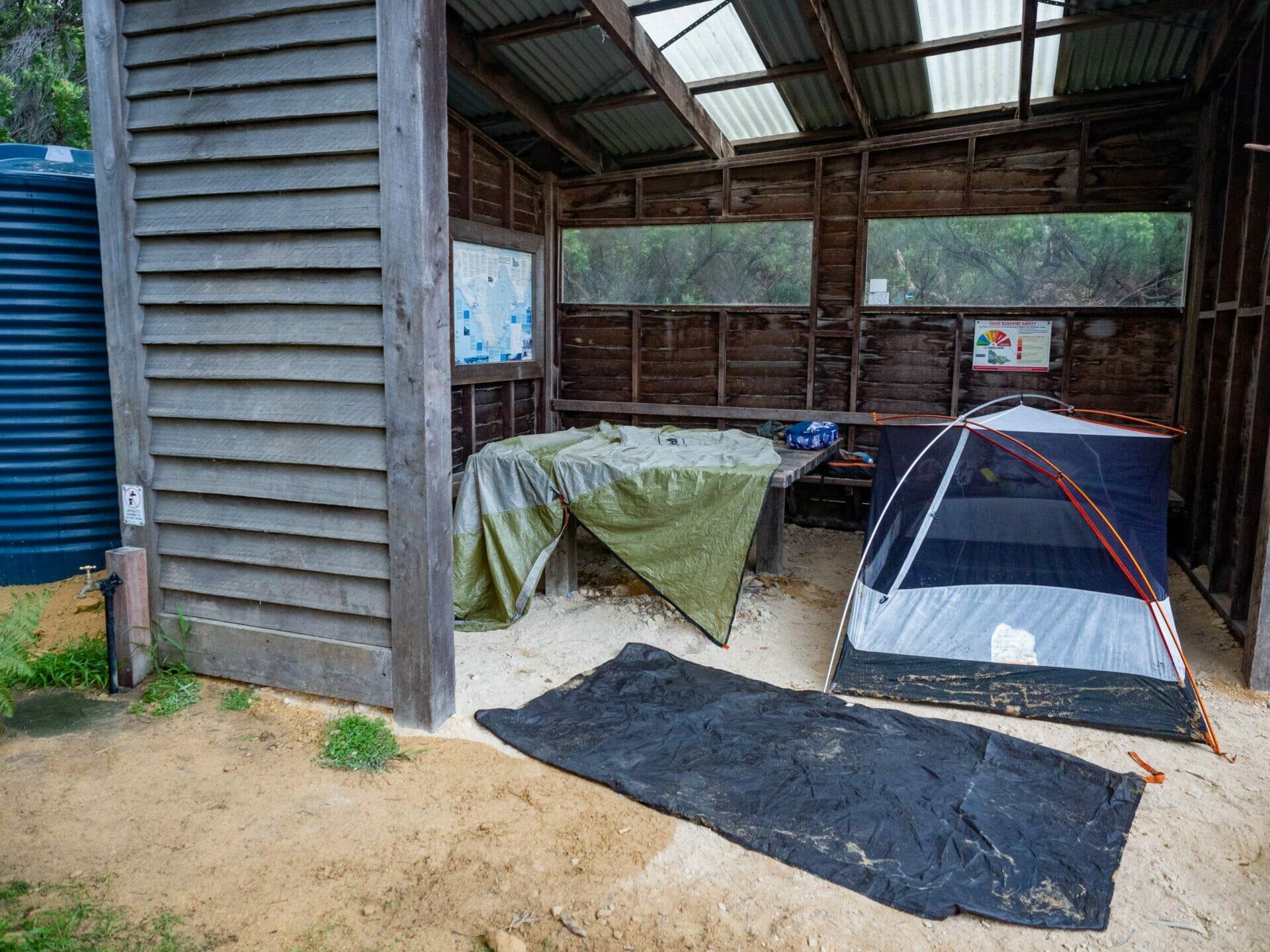 Great Ocean Walk hike Australia Cape Otway campsite