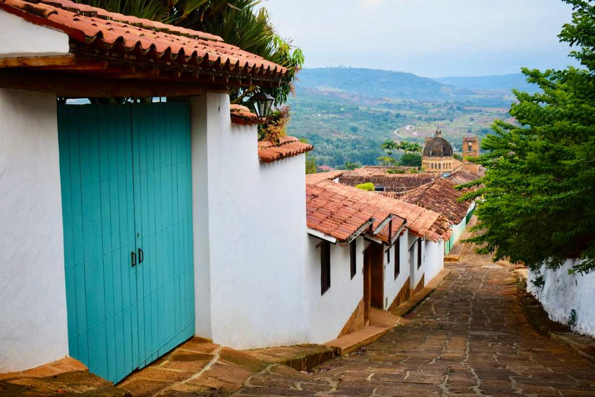 Colonial architecture in Barichara, Colombia