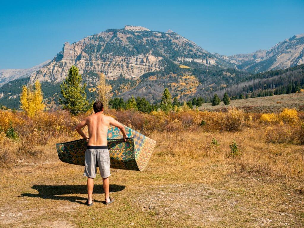 Grand Teton National Park Wyoming Granite Hot Springs vanlife camping