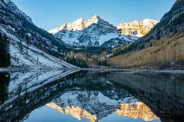 Maroon Bells Colorado Rocky Mountains sunrise