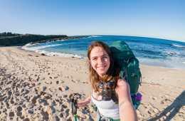 Great Ocean Walk hike Australia beach female solo hiker