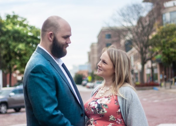 young couple maternity photos