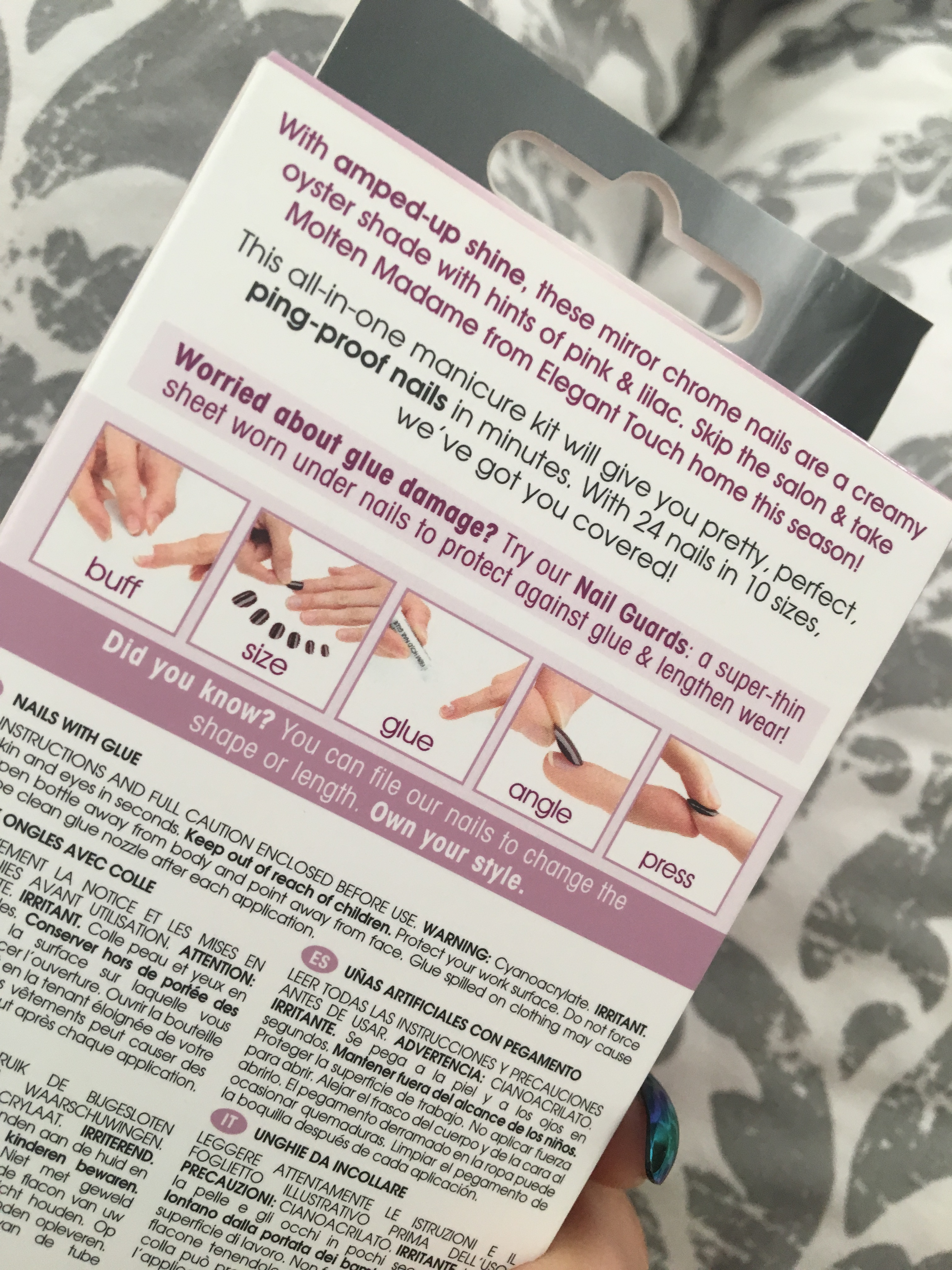 How To NAIL Applying False Nails - Elegant Touch - www.brookeclarke.com