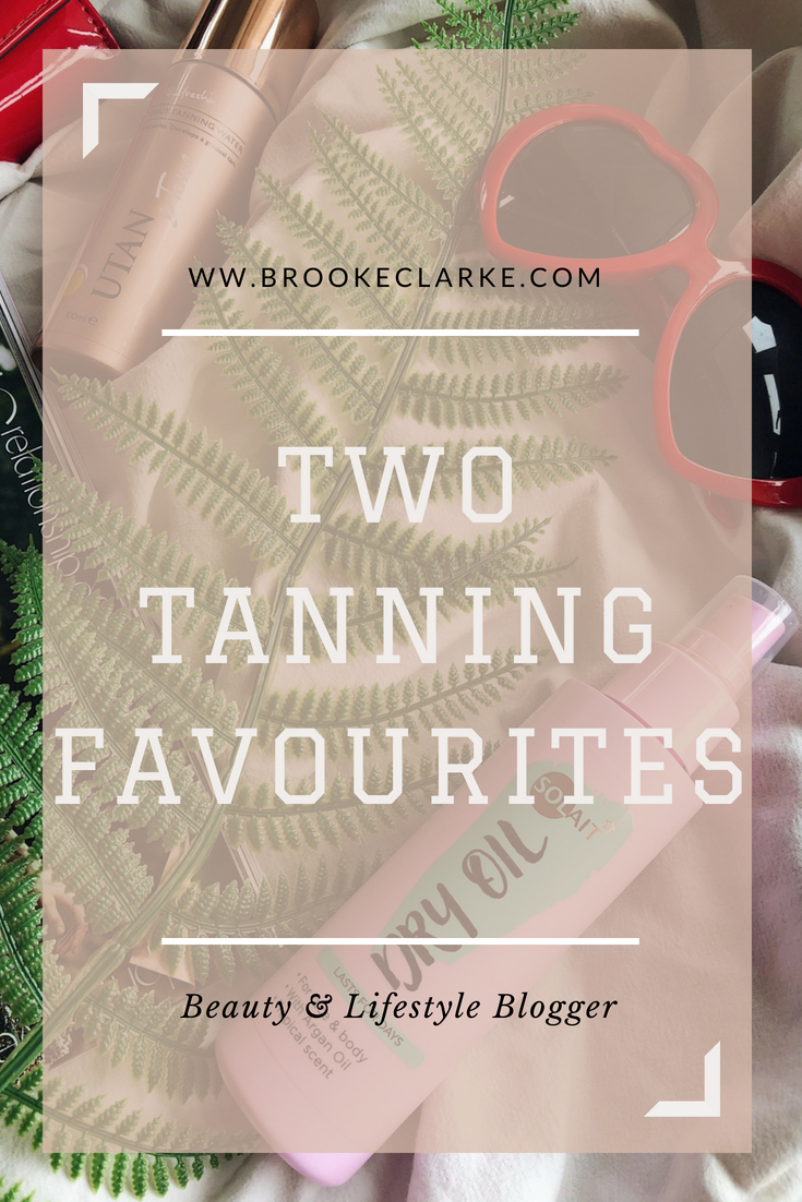 Two Tanning Favourites Pinterest pin