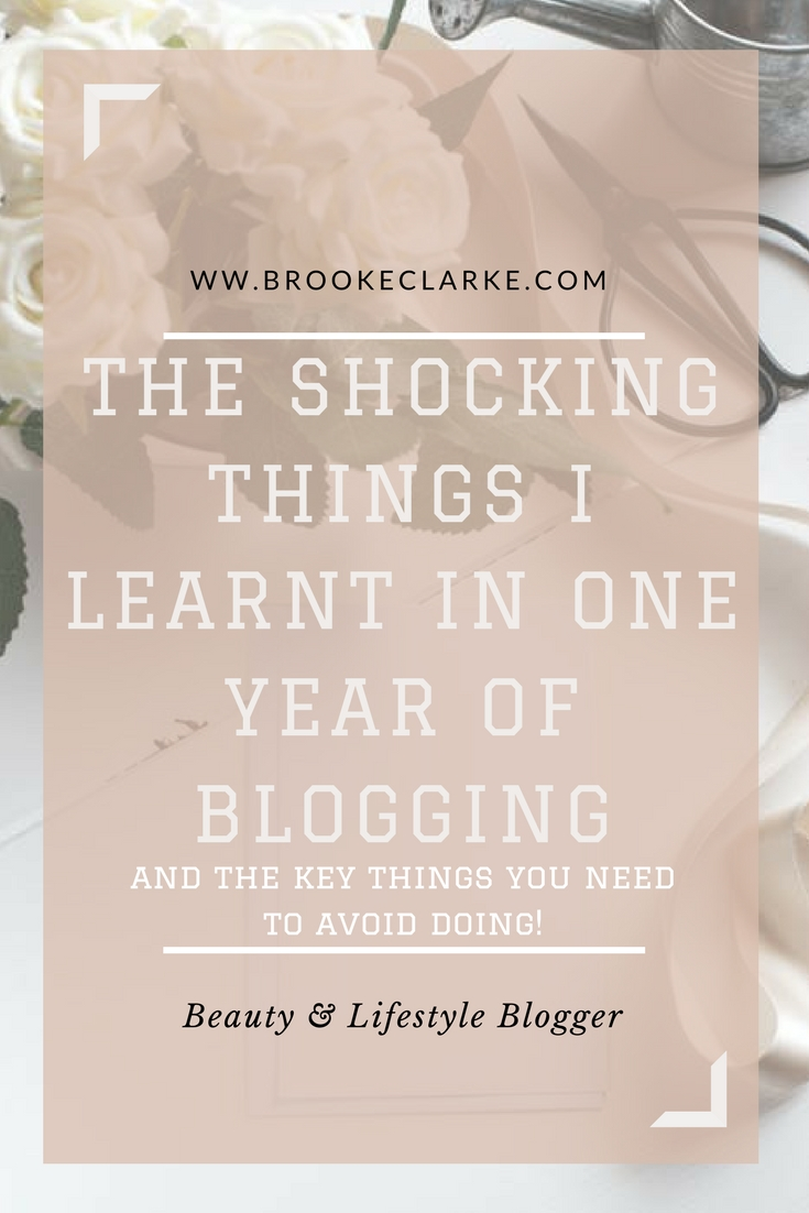 one year blogging pin