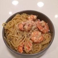 Shrimp Scampi with Veggie Pasta