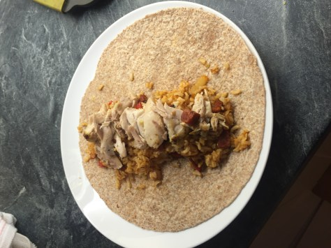 Chicken and Chorizo Burritos
