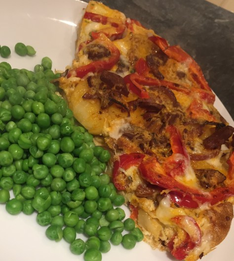 Chorizo, Pepper and Potato Tortilla (Spanish Omelette)