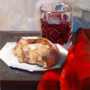 Bread and Wine by Anna Tikhomirova