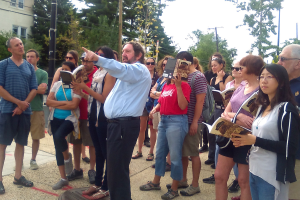 John Feeley leads a history tour of Brookland