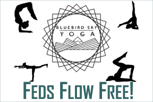 Feds Flow Free at Bluebird Sky Yoga
