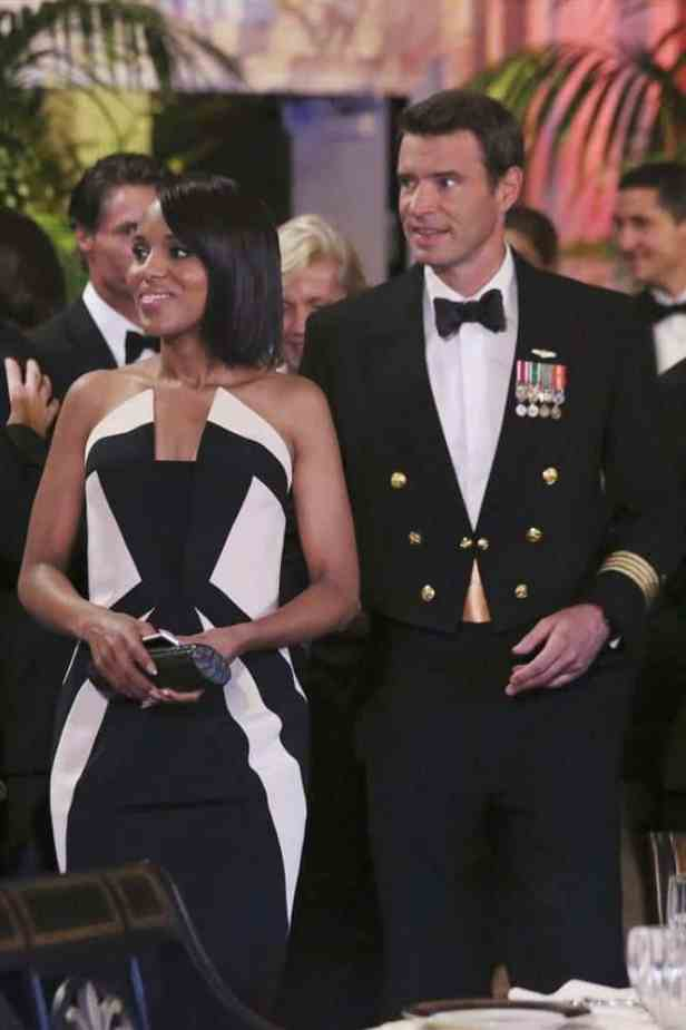 kerry washington olivia pope black and white dress