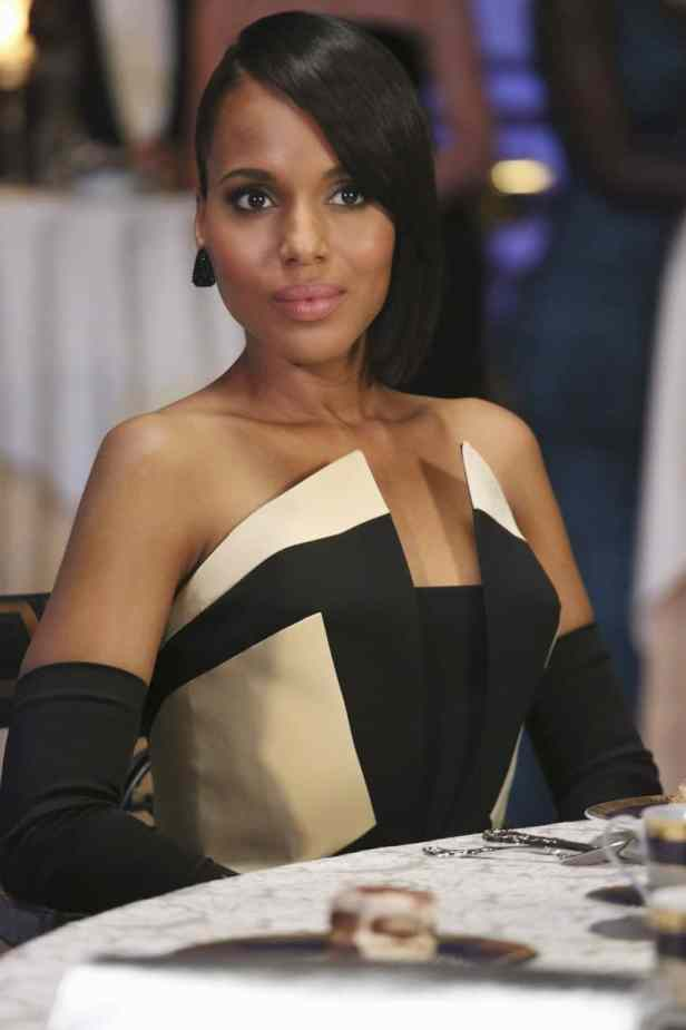 olivia pope scandal black and white dress