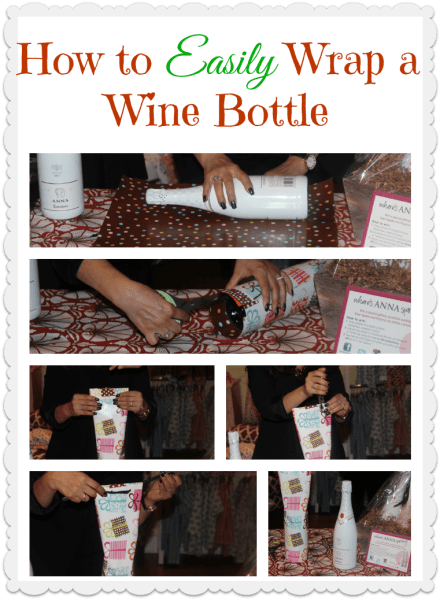 how to easily wrap a wine bottle