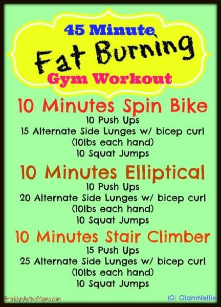 45 minute fat burning gym workout