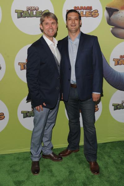NEW YORK, NY - JULY 16:  David Miller (L) and Mark Horneff of Kuato Studios attend the launch of Dino Tales and Safari Tales at the American Museum of Natural History with Kuato Studios on July 16, 2015 in New York City.  (Photo by Brad Barket/Getty Images for Kuato Studios)