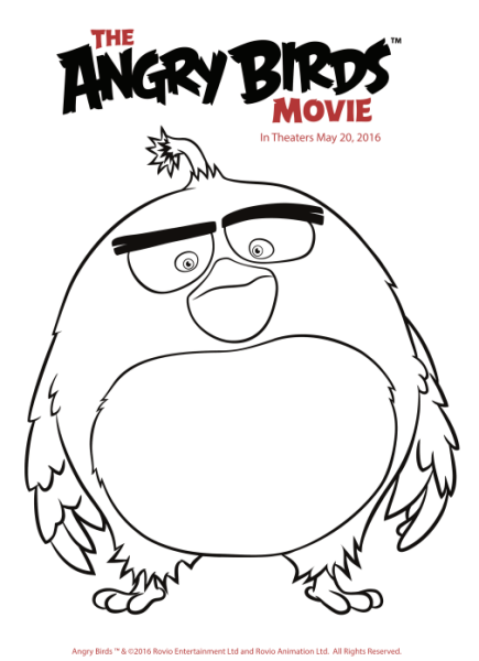 Angry Birds Movie Chuck Coloring Pages Print Angry Best