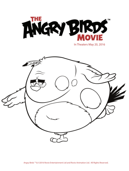 Free Angry Birds Coloring Pages {Printables}