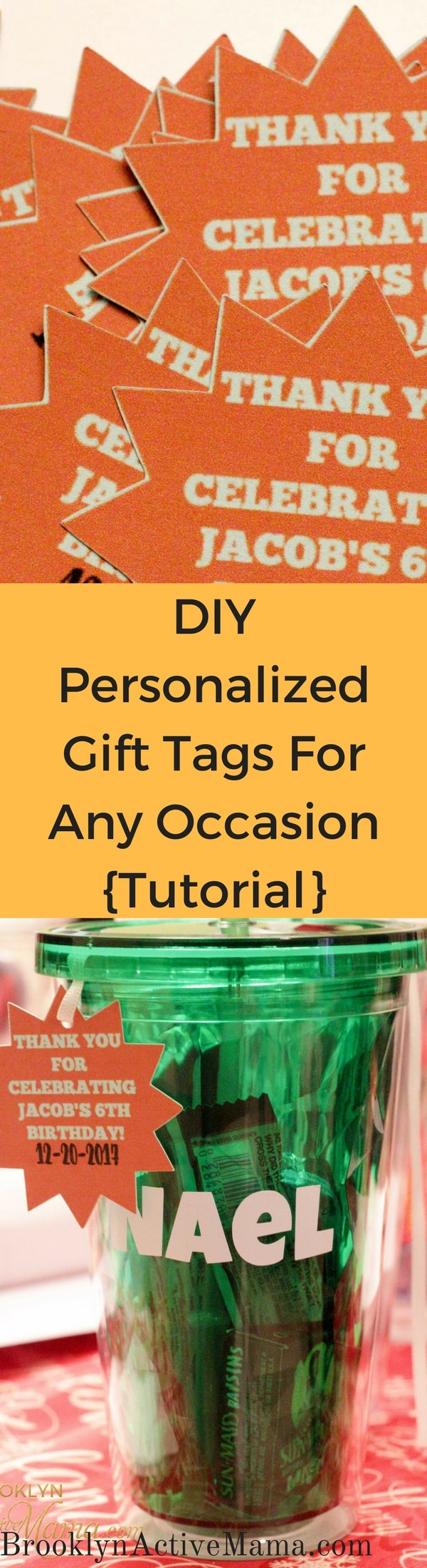 DIY Personalized Gift Tags For Any Occasion {Tutorial} Looking to jazz up those party bags and gifts? Check out this easy DIY craft that will take no time and leave a fun impression on your guests!