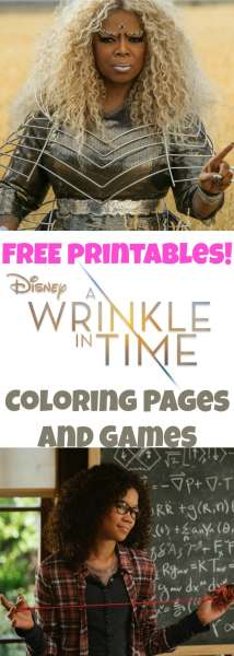 A Wrinkle In Time Coloring Pages and games