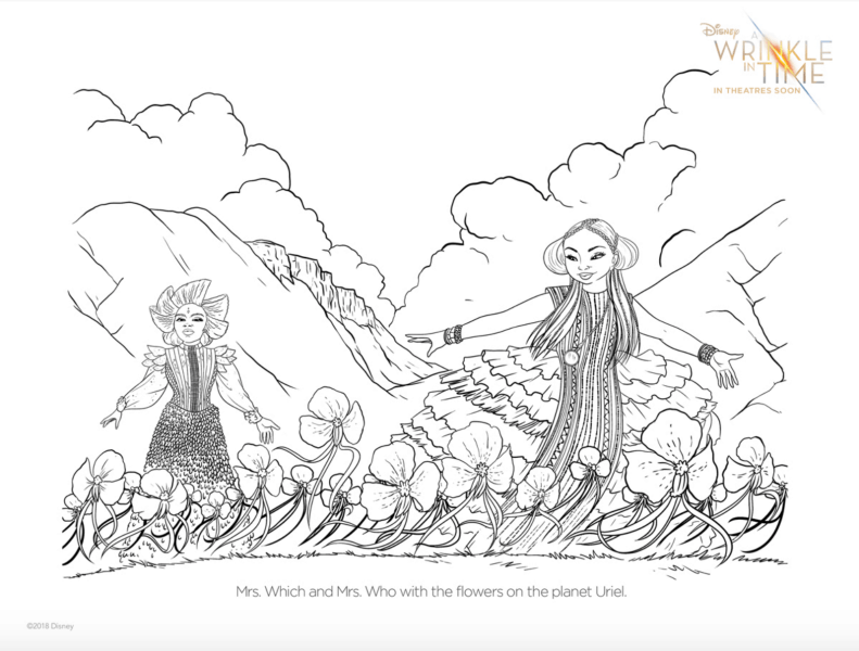 A Wrinkle In Time Free Coloring Pages