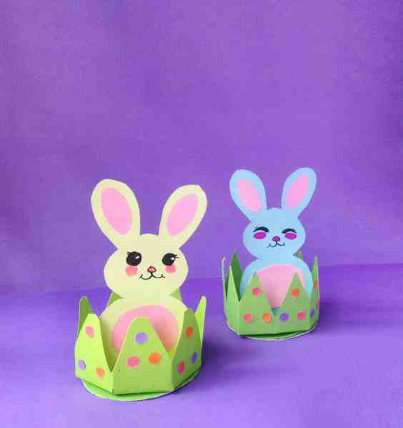Easy Bunny In Grass Easter DIY Craft