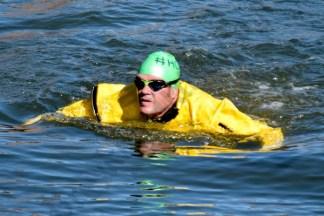 Gowanus Swimmer Chris Swain 10/17/2015