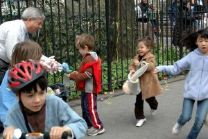 Easter Egg Hunt at Pierrepont Playground 2009