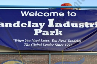 For one night, MCU Park in Coney Island was transformed into Vandelay Industries Park. That's quite an organization they're running. - Brooklyn Archive