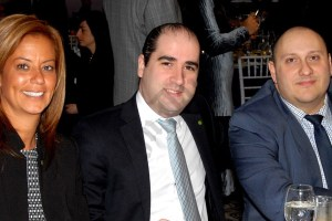 Ana Oliveira, Roni Shoyfer, and Michael Blinder from Investors Bank. - Brooklyn Archive