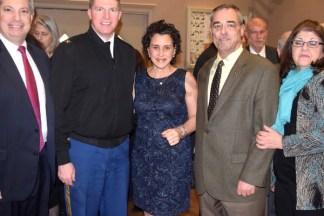 Pat Russo, Commanding Officer of the U.S. Army Garrison at Fort Hamilton Colonel Joseph D. Davidson, Lisa Becker, Fort Hamilton Dep. Commander Don Bradshaw, and Cathy Santopietro. - Brooklyn Archive