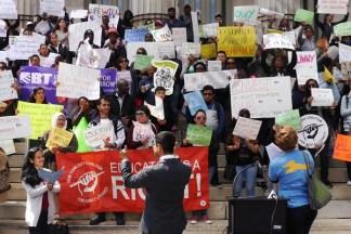 CUNY Cuts Protest at Brooklyn Borough Hall 05/10/2017 - Brooklyn Archive