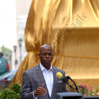 Beecher Monument Restoration Unveiled in Columbus Park 06/22/2017 - Brooklyn Archive