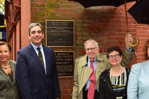 Brooklyn Historical Society New Historic District Plaque Unveiling 10/21/2016